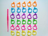 Cheap Latest Apple-shape rubber band loom kit loom band Rainbow loom DIY Charm Bracelet (200pcs bands+12S-clips+1 hook)
