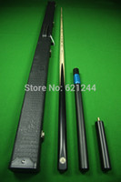Wholesale Ebony One Piece All Black Handmade Splices Ash Shaft Snooker Cue Pool Cue with Free Cue Case Mini Butt Longer Extension