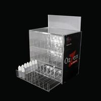 acrylic bottle rack - Three layers Acrylic e cig display high quality clear show shelf holder rack for ecig ml ml ml ml e liquid bottle needle bottle DHL