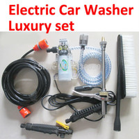 Wholesale Electric V w High Pressure Car Washer Portable Car Washing Tool Pump Foam Lance Trainborncar Styling Brush free gift