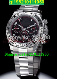 factory seller High quality low price Luxury White Gold on Bracelet w  Black & Red Dial 116509 Stainless Steel Automatic Mens Watch Men's Sp