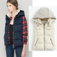 ladies quilted winter coat - 2014 female top coat vest patchwork fur cotton warm parka ladies outwear women plus size padded quilted jacket C3502014 Winter