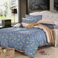 100% Cotton active printed Knitted Bedding Set 4pcs 100% cotton Sheet Duvet Cover Bedclothes Queen Size Quilt Cover Sets High Quality Bedspreads Home Textile