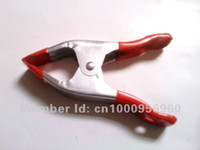 Wholesale 6 quot spring iron clamp A font red billed red handle fixed fast clip