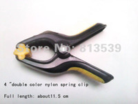 Wholesale 4 quot double color nylon spring clip a line strong woodworking fixed free delivery
