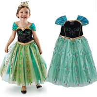 TuTu Summer Ball Gown in stock green costume dress for kids frozen girls dress costume fantasy princess dress elsa anna costume dress kids vestidos infan dress