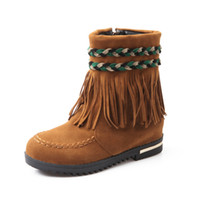 Wholesale 2015 tassels ankle boots for women winter boots wedge boots snow shoes ladies short boots womens shoes leather boots
