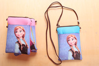 Cheap New children frozen Coin purse elsa anna baby girls snack bags kids phone keys bags christmas halloween birthday party children gifts