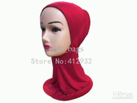 Wholesale Cheap Lady Muslim Hijab Scarf Headscarves Underscarf Cotton colors Mix New Arrival Low Price J18