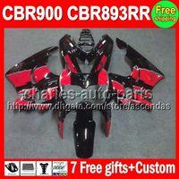 Red black 7gifts For HONDA CBR900RR CBR893RR 89- 97 CBR893 RR...