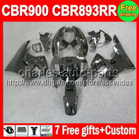 7gifts ALL Black For HONDA CBR900RR CBR893RR 89- 97 CBR893 RR...