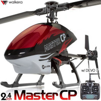 Cheap F03814 Walkera Master CP Flybarless 6-Axis-Gyro Brushed 2.4G 6CH 3D RC Helicopter w DEVO7 TX Lipo & Charger RTF + Free shipping