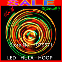 Wholesale EMS promotion pieces Brand New Led hula hoops fitness sports glowing hoops cm