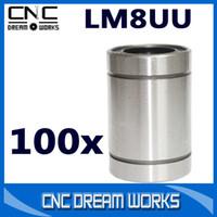Cheap 100pcs lm8uu bearings linear ball bushing 3d printer parts bearing High Precision CN033