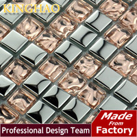 Wholesale KINGHAO resale tile stickers wall glass decor interior wall paneling bathroom tile kitchen wall decor GM1009