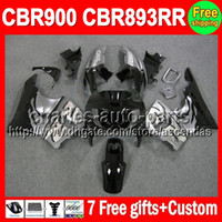 Black silvery 7gifts For HONDA CBR900RR CBR893RR 89- 97 CBR89...