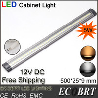 Cheap 2014 industrial aluminum 12v led spotlight lampadas for home kitchen under cabinet linear light 50cm 5w dimmable ce rohs 6pcs