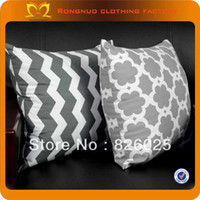 Cheap Wholesale 100% cotton pillowcase quilt pillowcase pattern chevron pillow covers 17.3''*17.3'' FREE SHIPPING48pcs lot