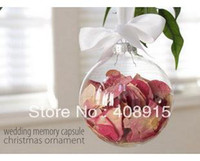 Wholesale Glass Christmas Ball EMS quot Christmas Ornament Balls mm Silver Tops Wedding Party Decoration