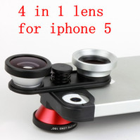 Wholesale Fish eye Macro Wide Angle Front Fisheye in lens camera for iPhone s detachable mobile phone lens