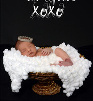 ball blanket - 2014 Chunky Knitted Crochet Blanket Mat Baby Newborn White balls blanket Photography Photo Prop cm