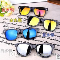 al por mayor gafas de sol rojas blancas de diseño-La mezcla verde roja roja 20pcs del capítulo de la lente del negro del azul del oro azul de las gafas de sol del diseñador libera el envío 0524S2