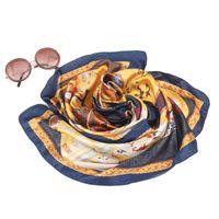 Wholesale 17 styles SC180228 cm Lady fashion print short square silk scarf