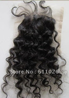 "Cheap 18"",#1b,4x4 ,top quality curly virgin brazilian silk base closures"