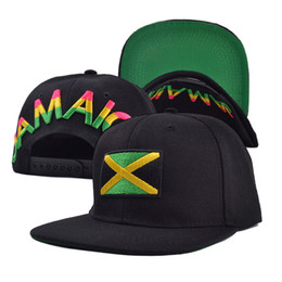 HT182124 New hat for men and women Hip Hop JAMAICA flat bill hats Adjustable baseball cap snapback cap