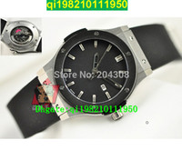 band seller - factory seller High quality Luxury Brand New Classic Fusion Stainless steel Automatic Men s Watch Black Rubber Band Mens Sport Wri