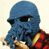 Wholesale Free drop shipping Fashion Novelty Handmade Knitting Octopus Wool hat For Men and Women H0106
