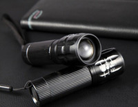 battery powered bicycle - 5 Power Led Zoom Light AAA Batteries lumens CREE Q5 Adjust Zoom Led mini Flashlight Torch bicycle front light