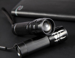 Wholesale 5 Power Led Zoom Light AAA Batteries lumens CREE Q5 Adjust Zoom Led mini Flashlight Torch bicycle front light