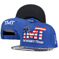 Wholesale HT182096 colors New hat for men and women hip hop The Money Team flat cap snapback cap