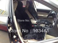 Wholesale Patchwrok Sheepskin car seat cover Black color