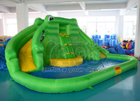Wholesale Crocodile water slide inflatable water slide with water pool for summer