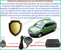 Cheap car anti-theft system 12Voltage RFID transponder immobilizer alarm auto security system for Western Euro North America Mexico India