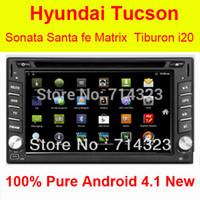 Cheap Android 4.2.2 3G WiFi Car GPS DVD Player Hyundai Santa Fe Tucson Sonata Elantra Getz Matrix Tiburon I20 Lavita Capacitive Option