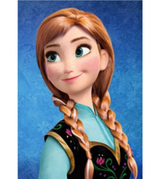 Wholesale New Cartoon Movie Frozen Snow Wig Queen Anna Elsa Wig Long Blonde Braid Cosplay Anime Wig ponytail Classic Halloween Hair