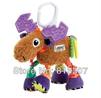 Cheap Hot sale super cute multifunctional Pere David's deer antelope brown lamaze bed hang bell baby toys