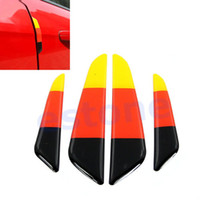 Cheap 2sets lot New German Flag Auto Crashproof Anti-rub Glue Bumper Car Door Protector Strip Free Shipping