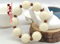 Cheap Men's bracelet, natural white Bodhi root 18mm 20mm bead hand String Bracelet beads rare and unique factory wholesale prices
