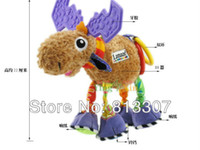 Cheap Newest multifunctional Pere David's deer antelope brown lamaze bed hang bell baby toys