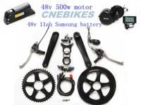 Wholesale 8fun bafang v w mid crank drive motor ebike kit v ah Samsung battery for electric bicycle kit