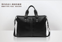Wholesale New Popular business fashion design Guarantee Genuine leather men handbag shoulder bag for quot laptop