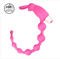 Cheap 100% Silicone Anal Beads Butt Plug Long,Adult Sex Products Female Male Anal Toys Masturbation Devices