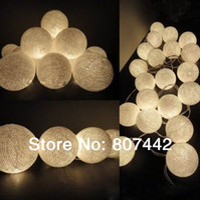 Wholesale 20 Balls Set Creamy white Cotton Balls Fairy String Lights Christmas Wedding Halloween gift