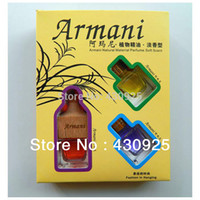 Wholesale French essential oil car perfume piece set perfume hangings car perfume set Air Freshener Perfume