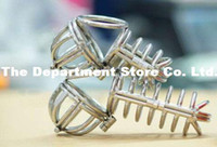 Cheap jailbird chastity Steel Cock Cage Male Anti Masturbation Gear Chastity Devices the curve chastity cbt chastity