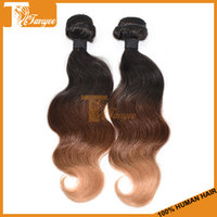 Cheap Hot Selling Ombre Brazilian Hair Weave 1b 4# 27# Remy Hair Extensions Queen Hair Products Virgin Body Wave Hair Weft Three Tone